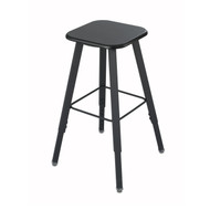 Safco AlphaBetter Height Adjustable Student Stool 1205BL - Black