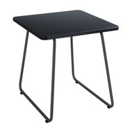 Safco 5090BL Anywhere End Table - Square Black Top Black Base