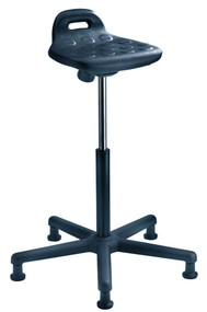 "Cramer SSOH1 Rhino Sit/Stand Adjustable Perch Stool with 24"" Nylon 5-Star Base"