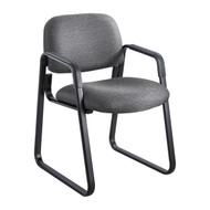 Safco 7047BL Cava Urth Sled Base Side Chair - Black