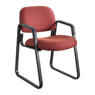 Safco 7047BG Cava Urth Sled Base Side Chair - Burgundy
