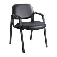 Safco 7046BV Cava Urth Straight Leg Side Chair - Black Vinyl