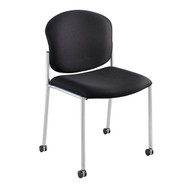 Safco 4194BL Diaz Upholstered Side Chair - Black