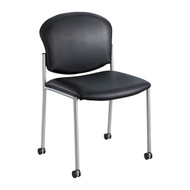 Safco 4194BV Diaz Vinyl Side Chair - Black