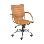 Safco 3456CM Flaunt Managers Chair - Camel Micro Fiber
