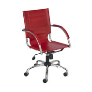 Safco 3456RD Flaunt Managers Chair - Red Leather