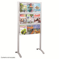 Safco 4135SL Luxe Magazine and Brochure Floor Rack - 9 Pocket