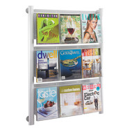 Safco 4134SL Luxe Magazine and Brochure Wall Mount Rack - 9 Pocket