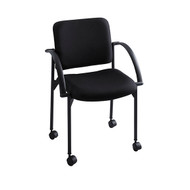 Safco 4184BL Moto Stack Chair - Carton of 2- Black