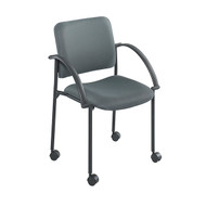 Safco 4184CH Moto Stack Chair - Carton of 2 - Charcoal