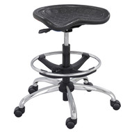 Safco SitStar Stool with Chrome Base 6660BL - Black