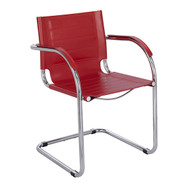 Safco 3457RD Flaunt Side Chair - Red Leather