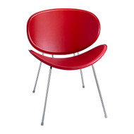 Safco 3563RD Sy Side Chair - Red Leather