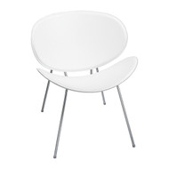 Safco 3563WH Sy Side Chair - White Leather