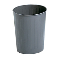 Safco 9604CH Round Trash Can, 23-1/2 Qt. (Qty. 6) - Charcoal