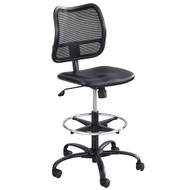 Safco Vue Vinyl Extended Height Black Desk Chair / Stool 3395BV