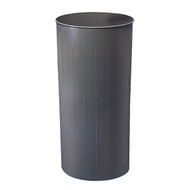 Safco 9610CH Round Trash Can, 80 Qt. (Qty. 3) - Charcoal