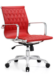Woodstock Annie  Mid Back Leather Chair - Red