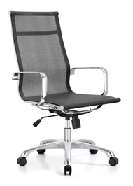 Woodstock Baez  High Back Mesh Chair - Black