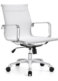 Woodstock Baez Mid Back Mesh Chair - White