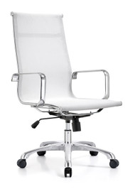 Woodstock Baez High Back Mesh Chair - White