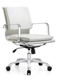 Woodstock Hendrix  Mid Back Leather Chair - White