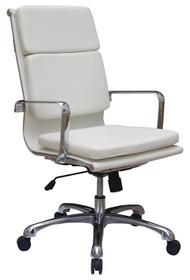 Woodstock Hendrix High Back Leather Chair - White