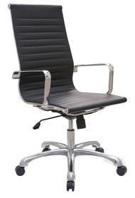 Woodstock Joplin Leather High Back Chair - Black