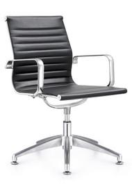 Woodstock Joplin Leather Side Chair - Black
