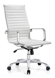 Woodstock Joplin Leather High Back Chair - White
