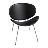 Safco 3563BL Sy Guest Chair - Black Leather
