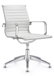 Woodstock Joplin Leather Side Chair - White