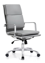Woodstock Hendrix High Back Leather Chair - Gray