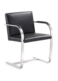 Woodstock  Arlo Italian Leather Side Chair - Black