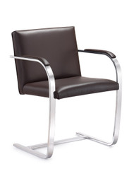 Woodstock  Arlo Italian Leather Side Chair - Brown