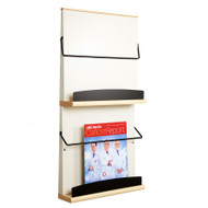 Peter Pepper 4012 Stackable Literature / Magazine Rack - 2 Pocket