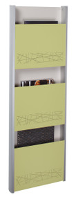 Peter Pepper 4123 Vertical Magazine Rack / Medical Chart Holder - 3 Pocket