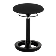 Safco 3000BL Twixt Active Seating Stool - Desk Height - Black Mesh