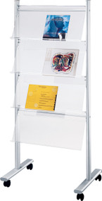 """Peter Pepper MR12 Mobile Magazine and Literature Rack - Single Sided 30"""" Wide"""