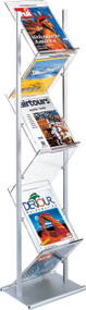 Peter Pepper Zig-Zag MR-Z Freestanding Magazine / Literature Rack - Double Sided