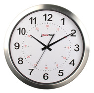 "BRG Precision Products HP12A DuraTime HP Clock, 12"" Diameter, Brushed Aluminum Bezel"