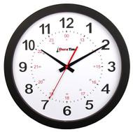 "BRG Precision Products HP12P DuraTime HP Clock, 12"" Diameter, Black Plastic Bezel"