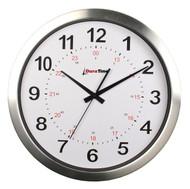 "BRG Precision Products HP15A DuraTime HP Clock, 15"" Diameter, Brushed Aluminum Bezel"