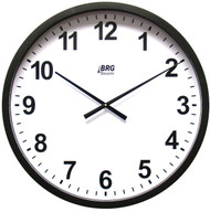 "BRG Precision Products HP22P DuraTime HP Clock, 22"" Diameter, Black Plastic Bezel"