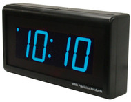 BRG Precision Products DuraTime HP425B high precision plug-in digital wall clock with a 4-digit 2.5-inch high blue LED display.