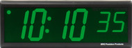 BRG Precision Products DuraTime HP640G high precision plug-in digital wall clock with a 6-digit 4-inch high green LED display.