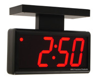 BRG Precision Products DuraTime HP440R-2SB double-sided ceiling or wall-mounted high precision plug-in digital clock with a 4-digit 4-inch high red LED display.