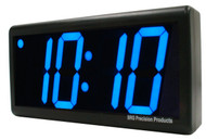 BRG Precision Products DuraTime HP440B-2SB double-sided ceiling or wall-mounted high precision plug-in digital clock with a 4-digit 4-inch high blue LED display.