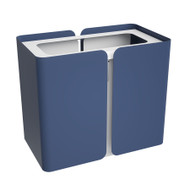 Peter Pepper Stream SW1 - Deskside Recycling Wastebasket with Top - Single Stream