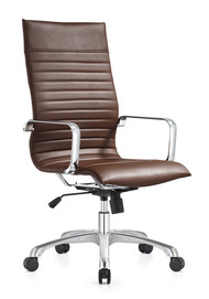 Woodstock Janis High Back Swivel Chair - Brown